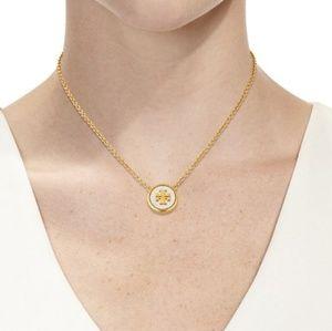 Tory Burch Logo Stone Necklace